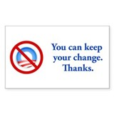 You can keep the change Rectangle Sticker 10 pk)