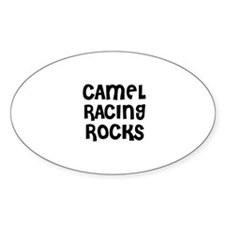 CAMEL RACING ROCKS Oval Decal