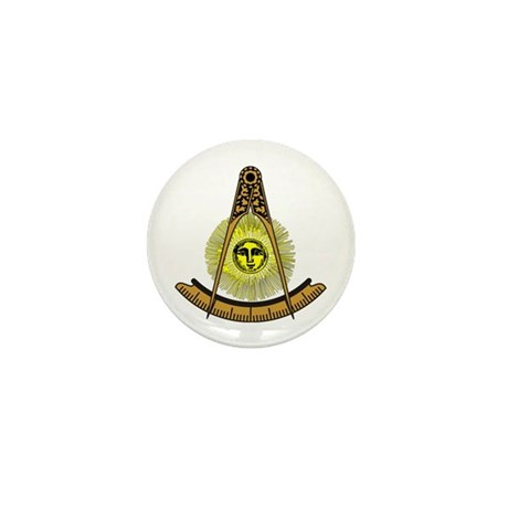 Freemason Past Master Mini Button