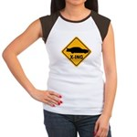 Stock Car X-ing Women's Cap Sleeve T-Shirt