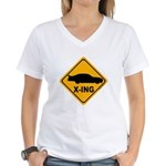 Stock Car X-ing Women's V-Neck T-Shirt