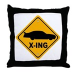 Stock Car X-ing Throw Pillow