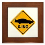 Stock Car X-ing Framed Tile