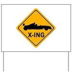 Race Car X-ing Yard Sign