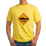 Race Car X-ing Yellow T-Shirt