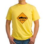Race Car X-ing Yellow T-Shirt