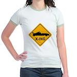 Race Car X-ing Jr. Ringer T-Shirt