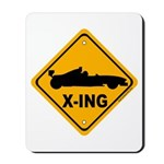 Race Car X-ing Mousepad