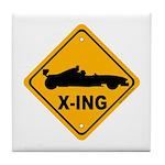 Race Car X-ing Tile Coaster