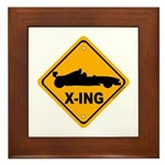 Race Car X-ing Framed Tile