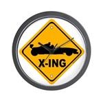 Race Car X-ing Wall Clock