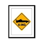 Race Car X-ing Framed Panel Print