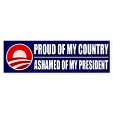 Ashamed Of Obama Bumper Sticker (10 pk)