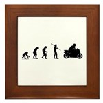 Motorcycle Evolution Framed Tile