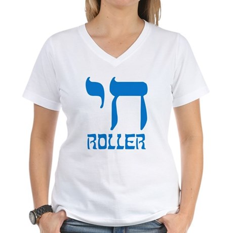 Chai Roller Womens V-Neck T-Shirt
