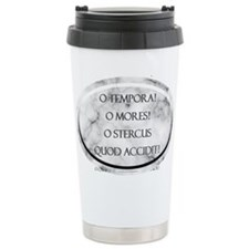 Sh*t Happens (Latin) Ceramic Travel Mug