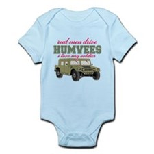 Real men drive Humvees Body Suit