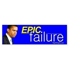 Obama - Epic Failure Bumper Bumper Sticker