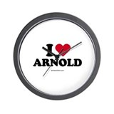 I Love Arnold -  Wall Clock
