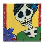 Day of the Dead Penelope Tile Coaster