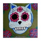 Day of the Dead El Gato Tile Coaster