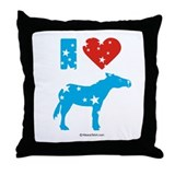 I Love Democrats -  Throw Pillow
