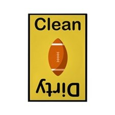 Gold and Black Football color dishwasher Magnet