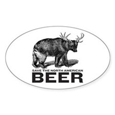 Save Beer Oval Stickers