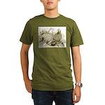 Frillback Pigeons Organic Men's T-Shirt (dark)