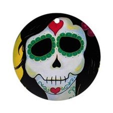 Madame La Fee Sugar Skull Ornament (Round)