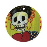 Frida Ornament (Round)