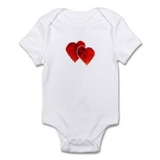 TWO HEARTS (16) Infant Bodysuit