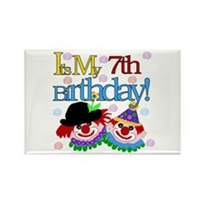 Clown 7th Birthday Rectangle Magnet