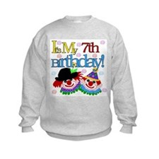 Clown 7th Birthday Sweatshirt