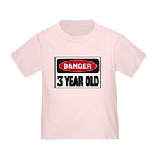 3 Year Old Danger Sign T