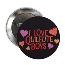 "I Love Quileute Boys 2.25"" Button (10 pack)"