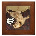 It's A Dog's Life Framed Tile