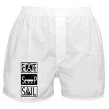 Eat Sleep Sail Boxer Shorts