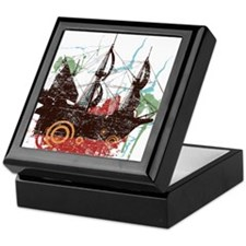 Pirate Ship Keepsake Box