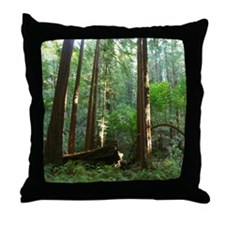 San Francisco Redwoods Throw Pillows