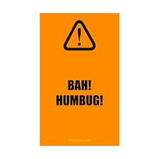 Bah! Humbug! Rectangle Sticker 10 pk)