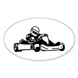 Go Kart Racing Oval Decal