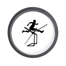 Athletics - Hurdles Wall Clock