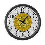 Yellow Guiding Star 2 Large Wall Clock