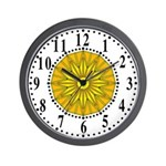 Yellow Guiding Star 2 Wall Clock