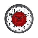 Red Guiding Star 2 Wall Clock