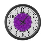 Lavender Guiding Star 2 Large Wall Clock