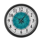 Cyan Guiding Star 2 Large Wall Clock