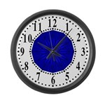 Blue Guiding Star 2 Large Wall Clock