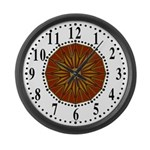 Brown Guiding Star 2 Large Wall Clock